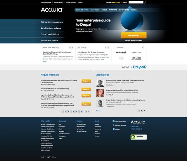 Acquia com in July 2011
