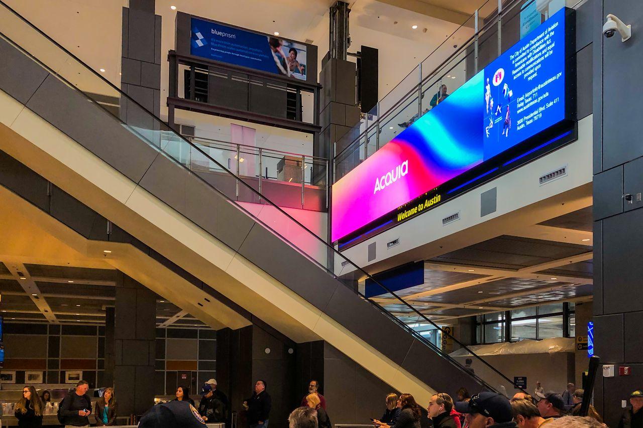 Acquia engage airport billboard