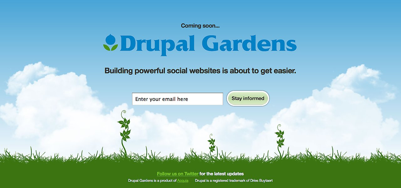 Drupalgardens com signup
