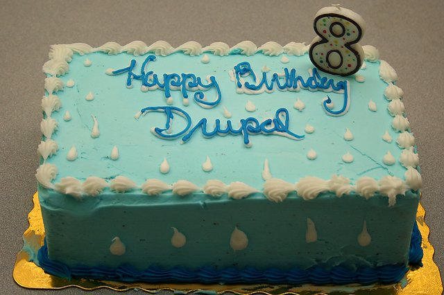 Happy eighth birthday drupal