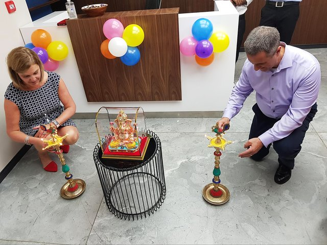 Acquians at the opening of the Pune, India office