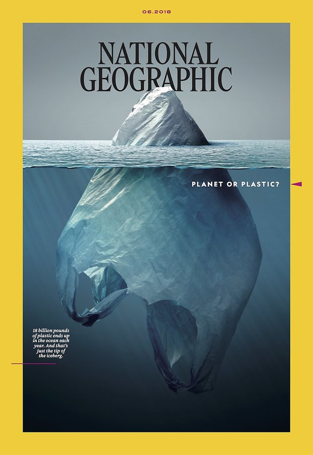 "National Geographic's ""Planet or plastic?"" cover"