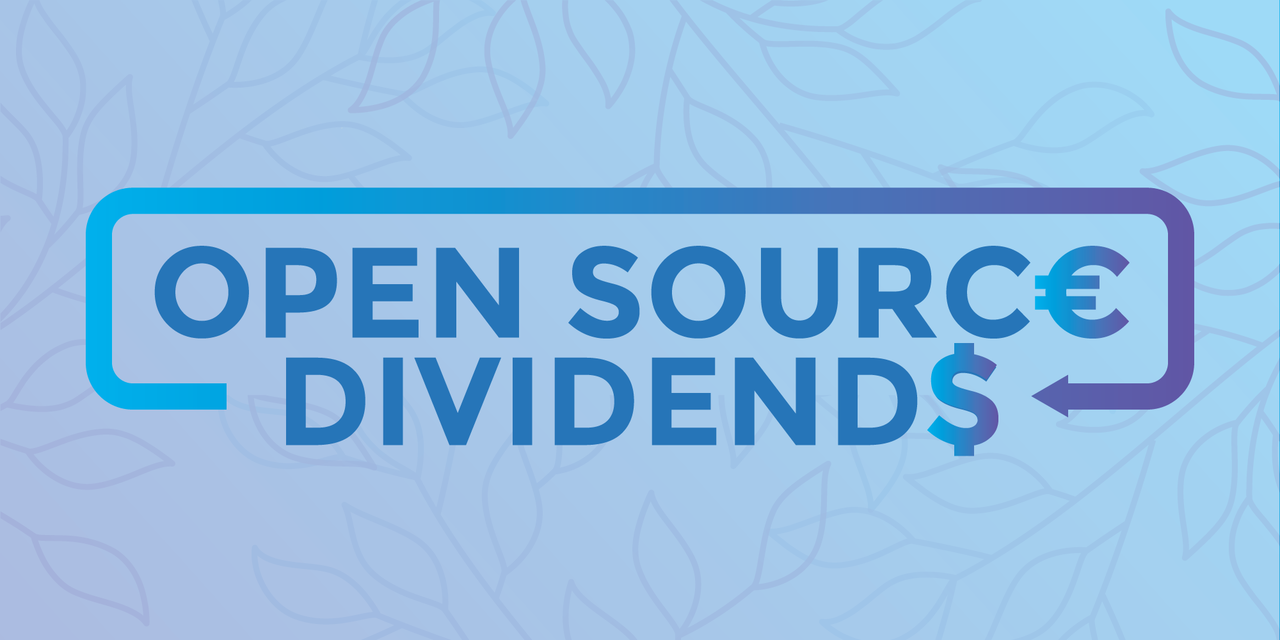 A sign that reads 'Open Source dividends'