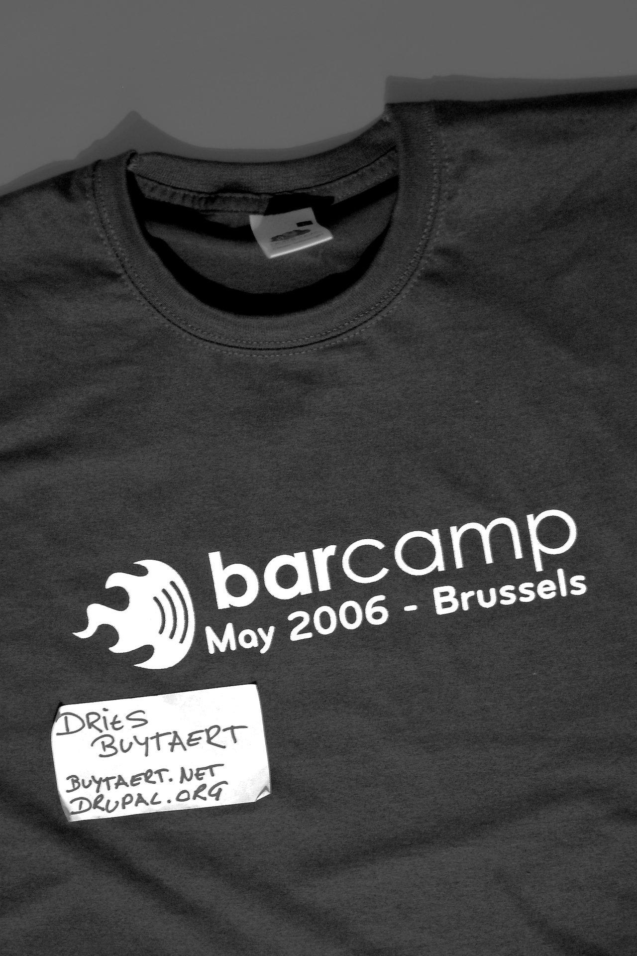 Barcamp brussels tshirt