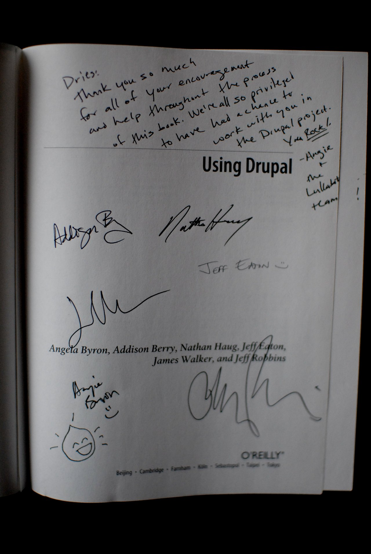Book oreilly using drupal