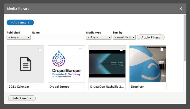 The Media Library in Drupal 8.6
