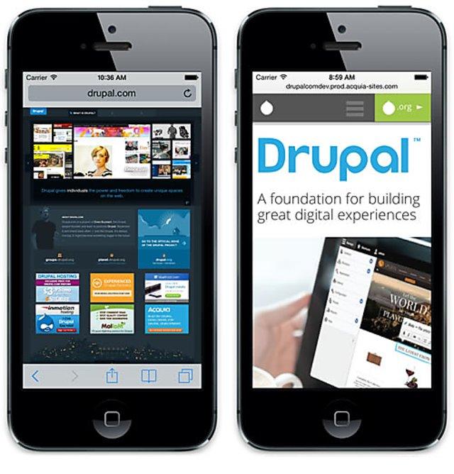 Drupal com mobile