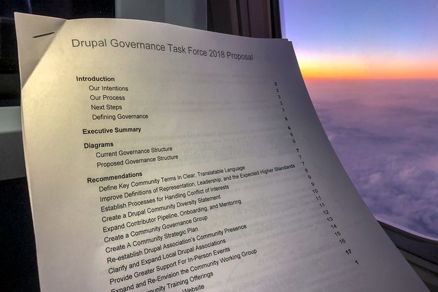 The proposal from the Drupal Governance Task Force
