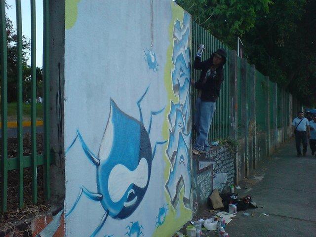Druplicon graffiti