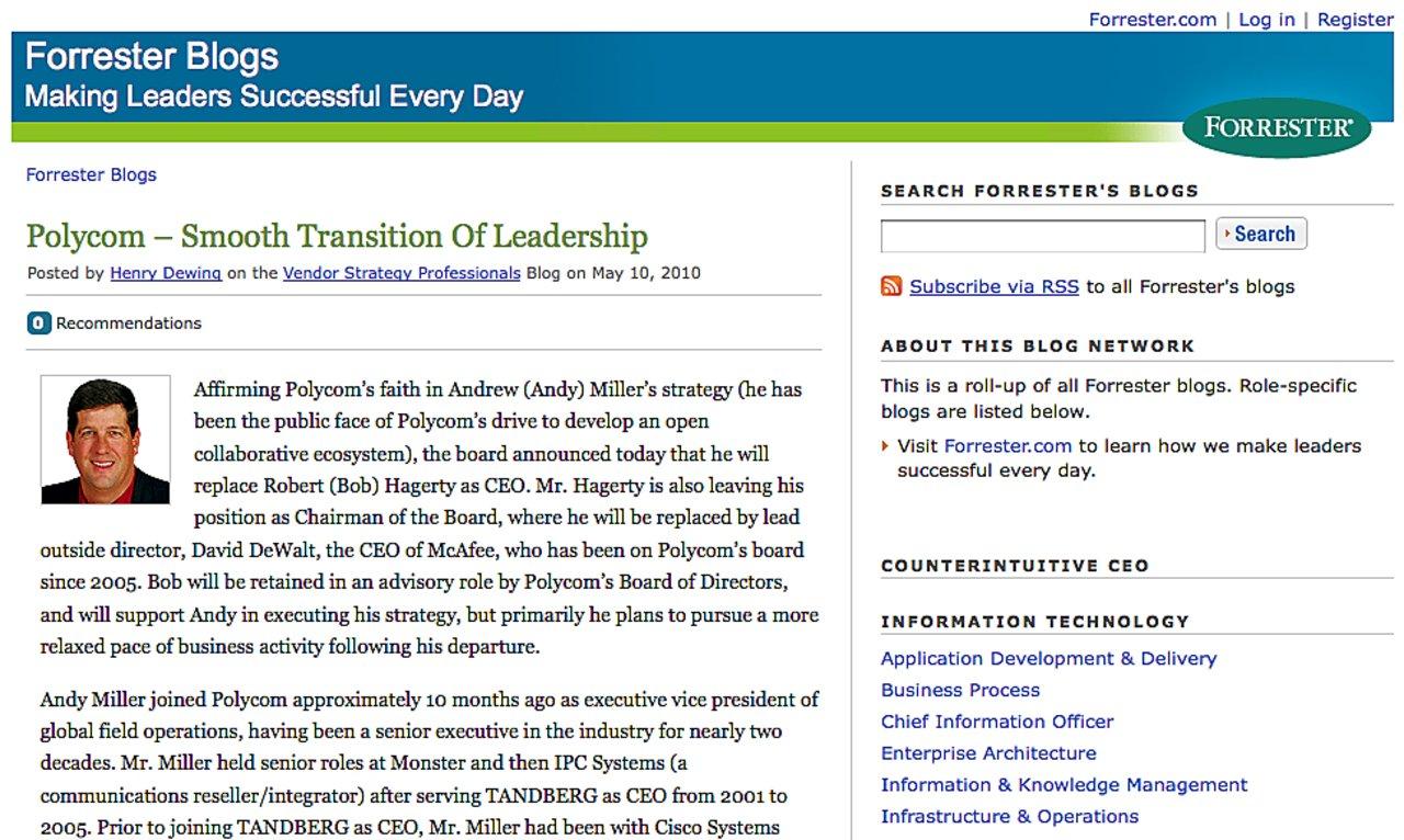 Forrester blogs