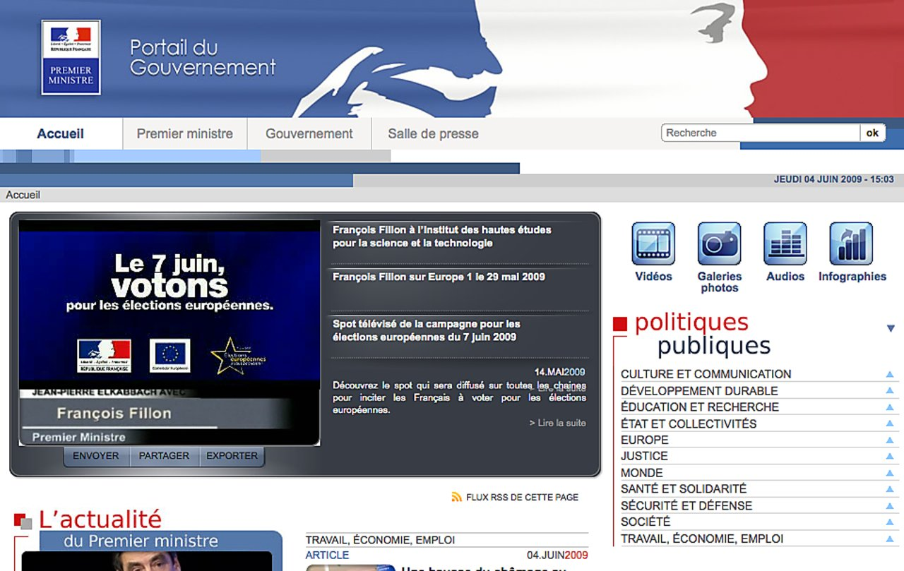 French government portal