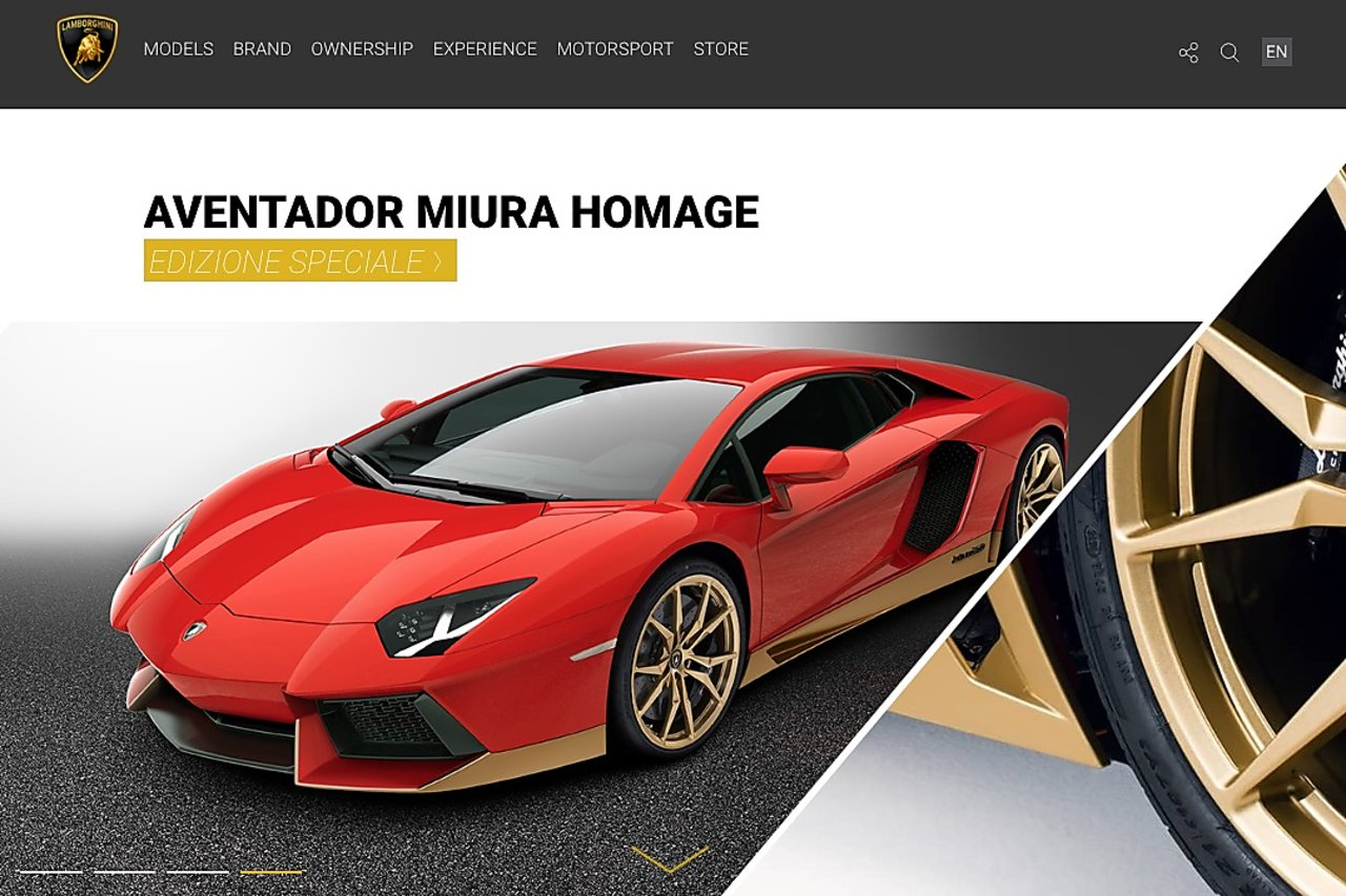 Lamborghini using drupal