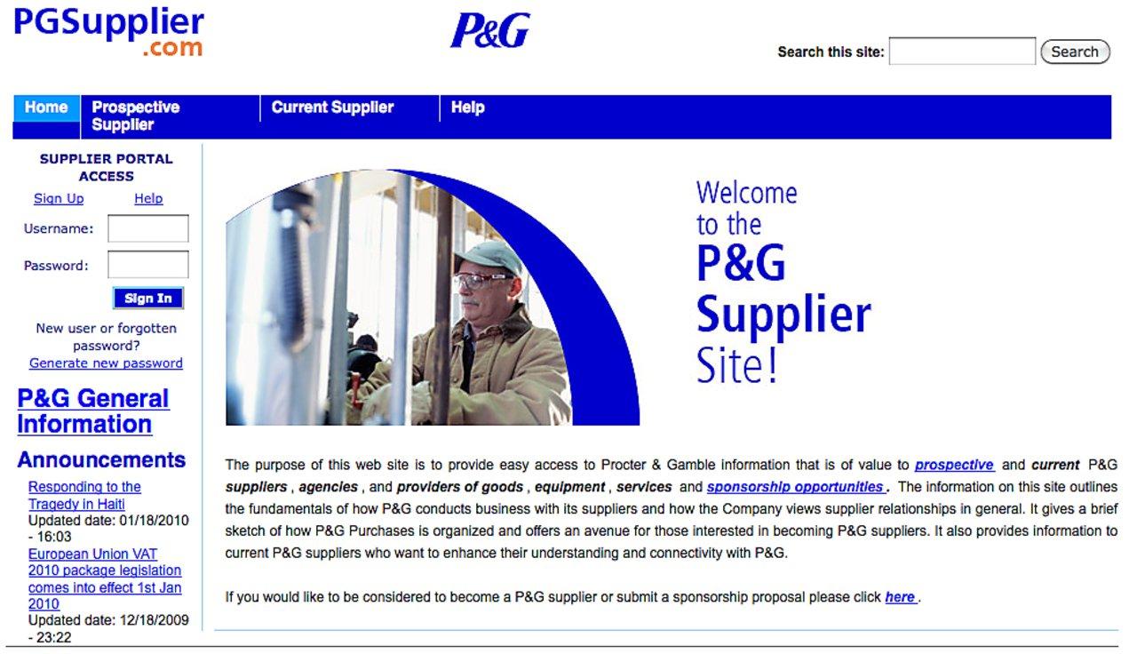 Pg supplier