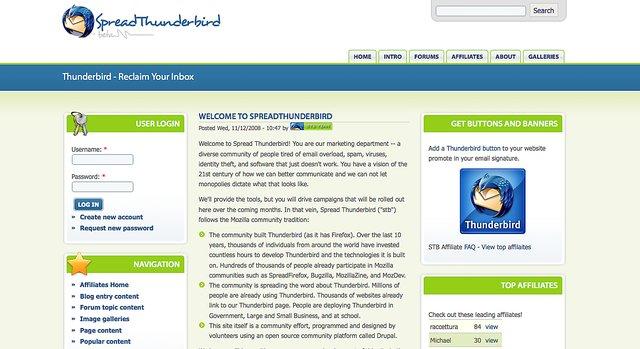 Spread thunderbird