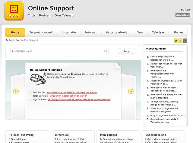 Telenet online support