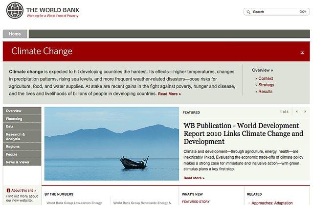 World bank climate change