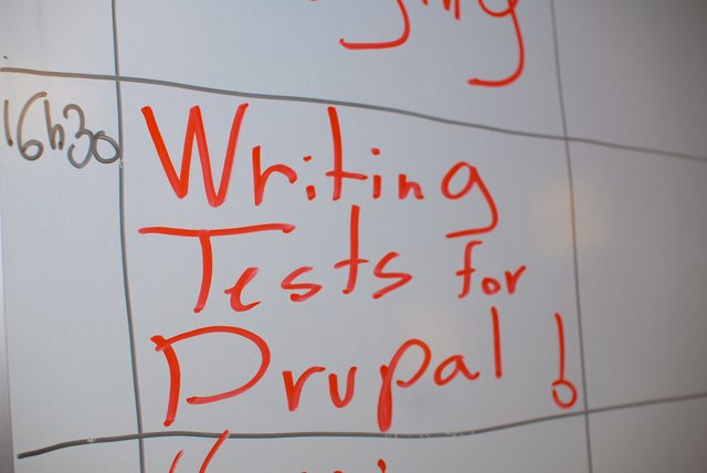 Writing tests for drupal
