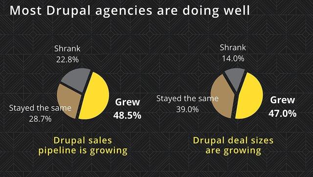 Most Drupal agencies have growing businesses