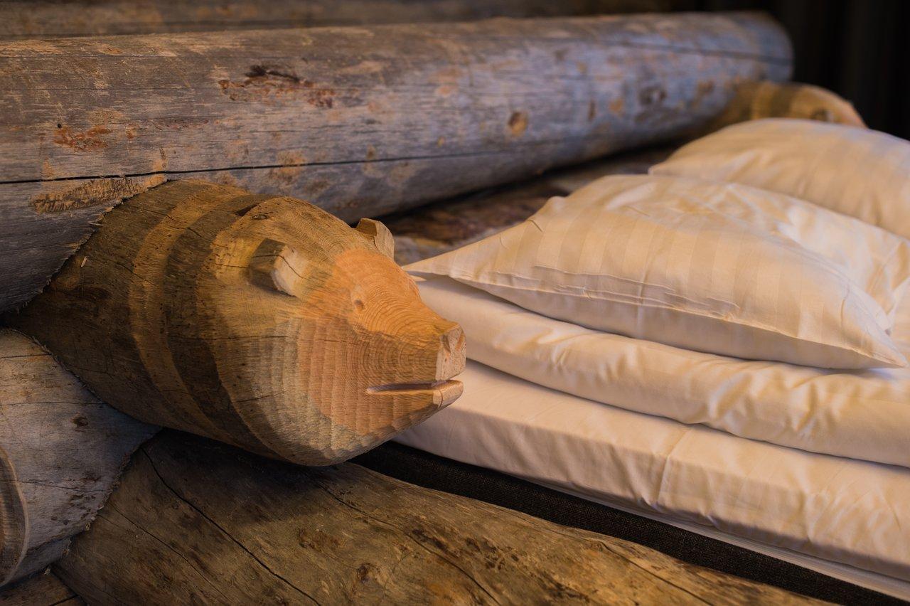 Beautiful log cabin bed