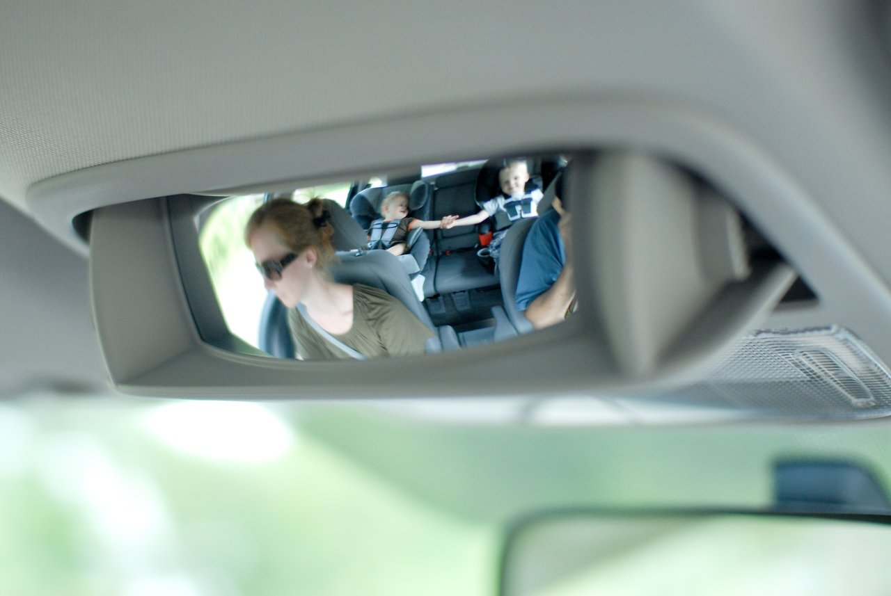 Backseat spy mirror