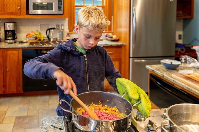 Axl making pasta