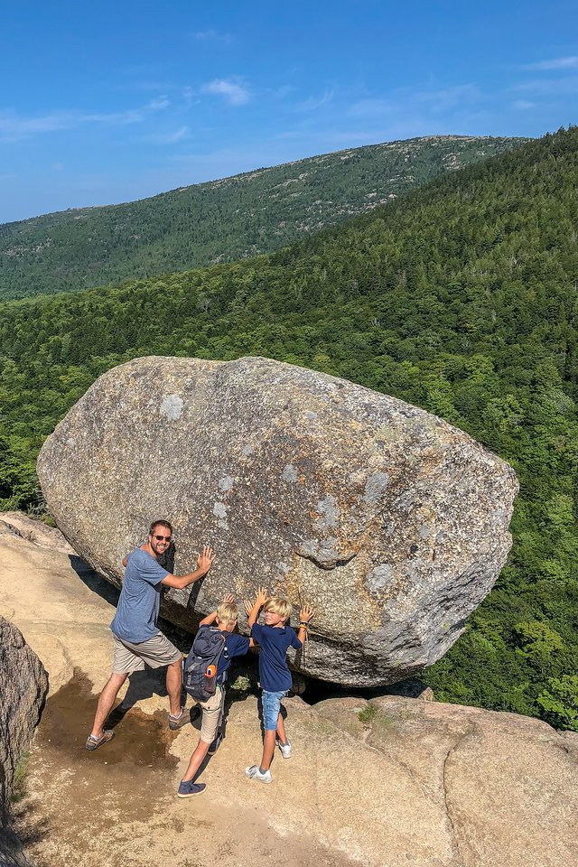 Bubble Rock at Acadia National Park