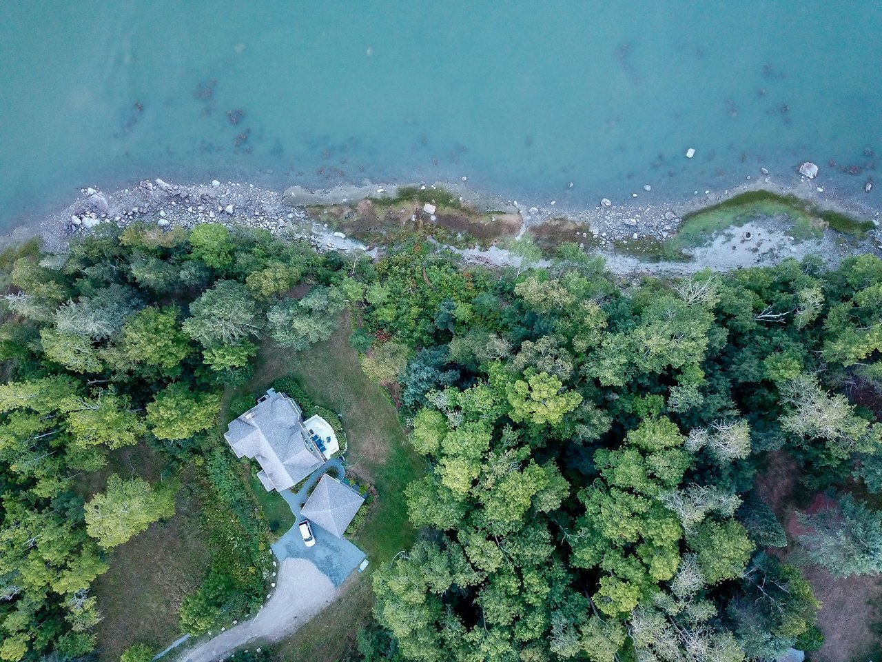 An aerial photo of our rental property