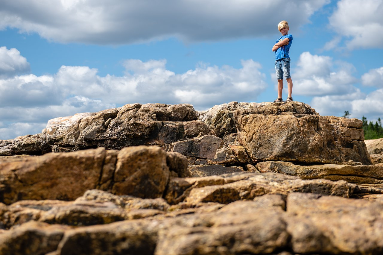 Stan on the rocks at Acadia National Park