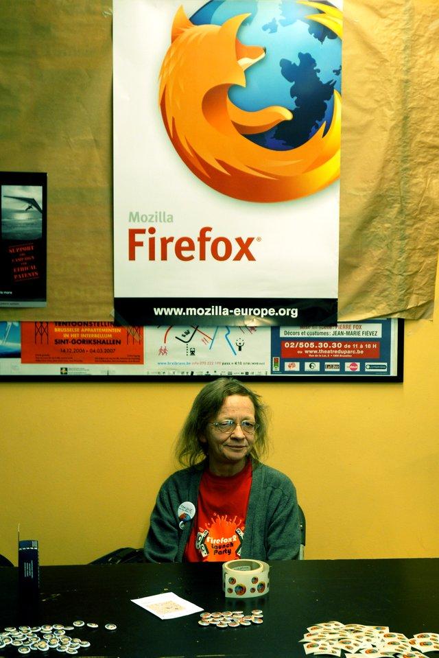 Firefox lady at fosdem