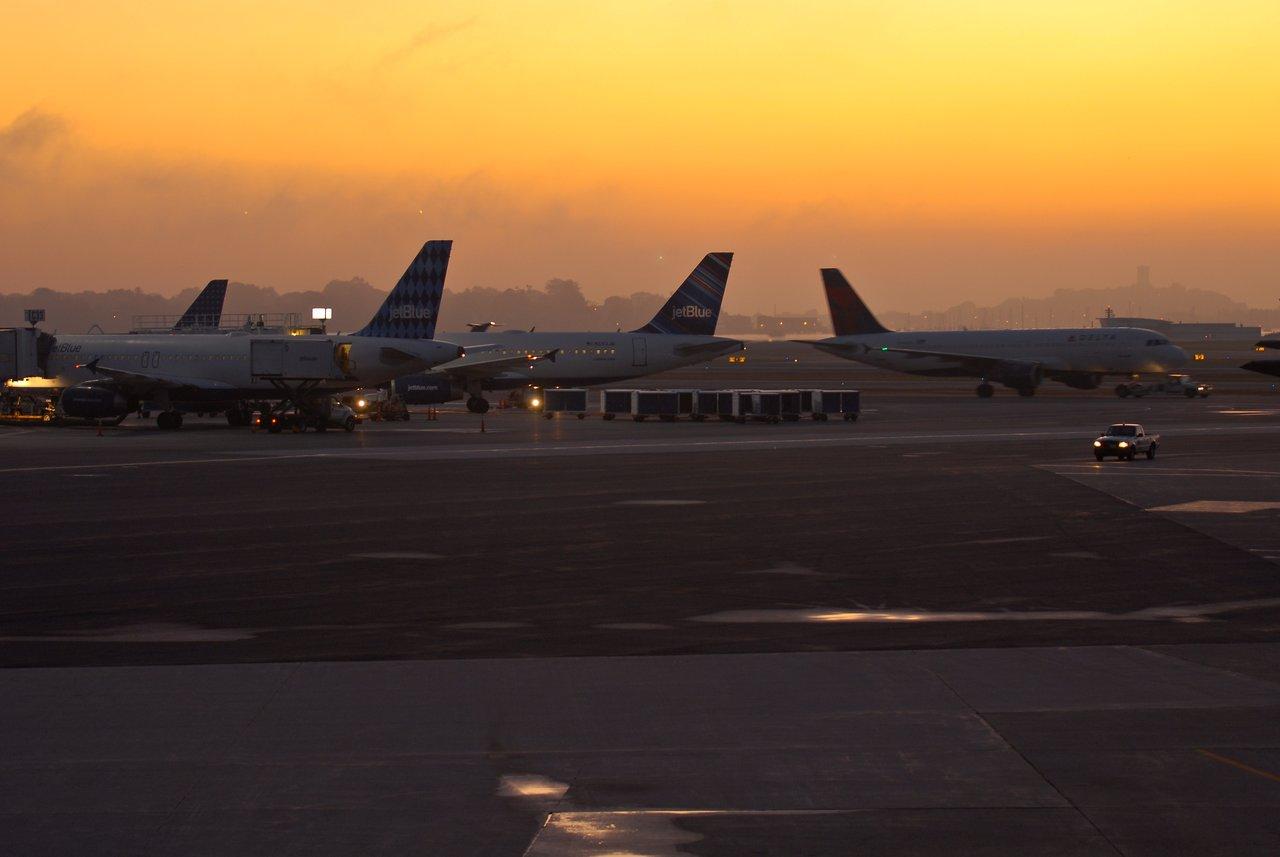 Logan airport at dawn