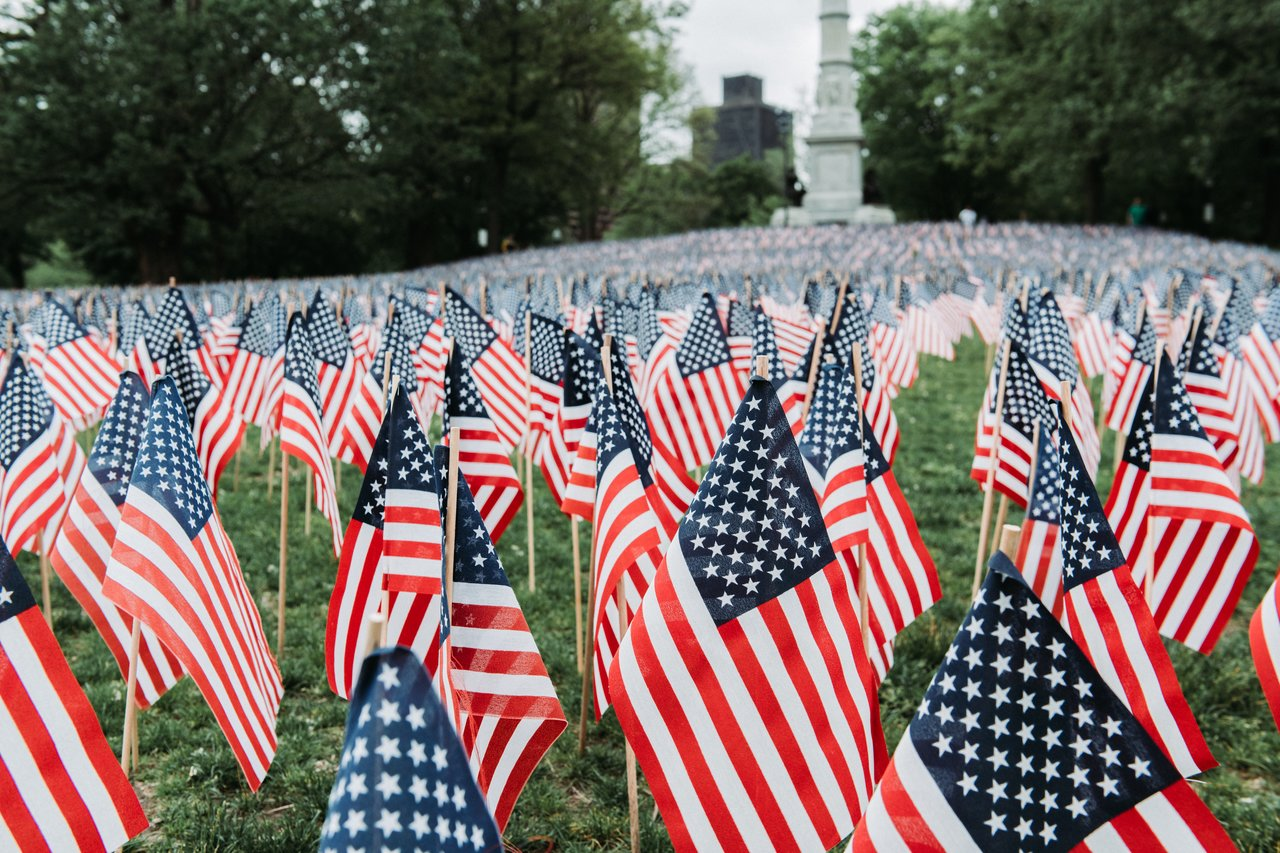 37,000 American flags on Boston Common
