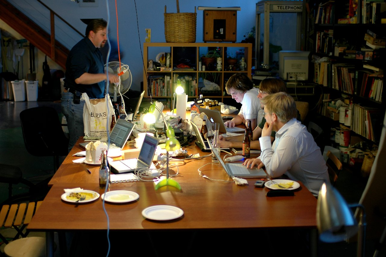 Drupal meeting at teh space