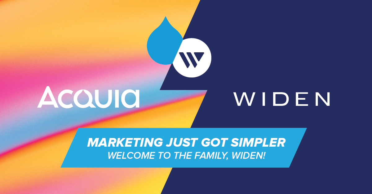 The Acquia and Widen logos shown next to each other