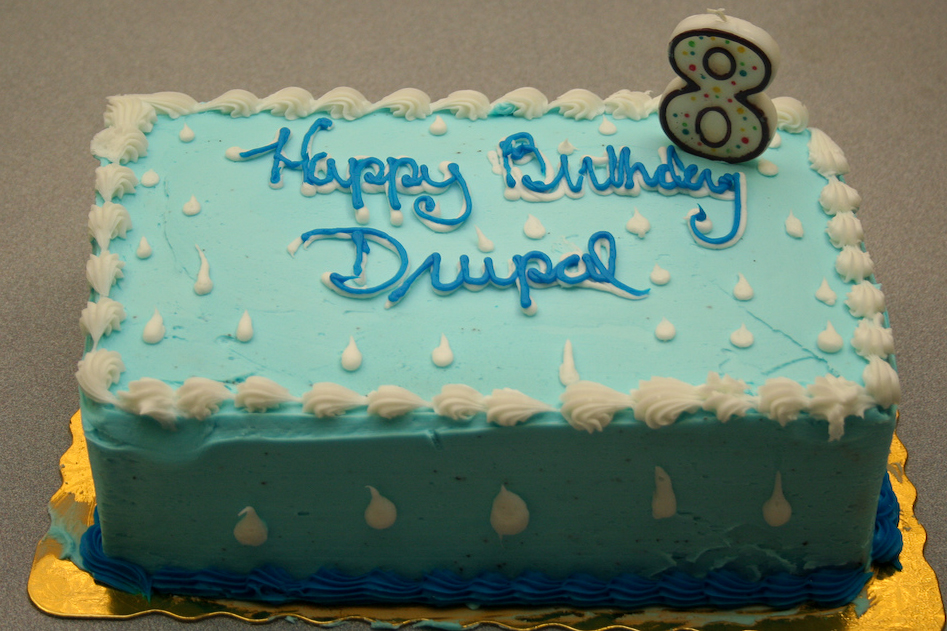 Happy eighth birthday drupal
