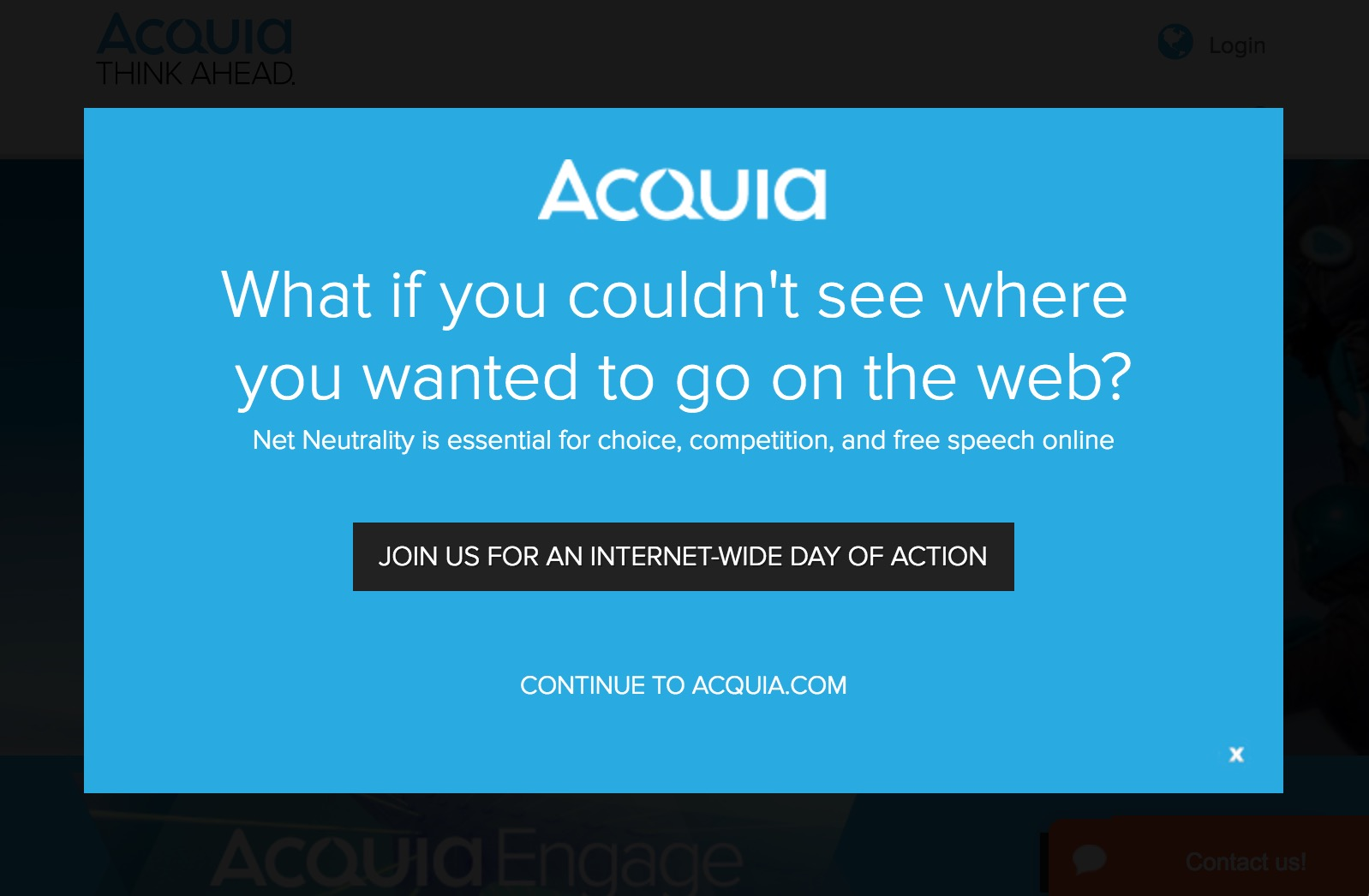 Acquia supports net neutrality