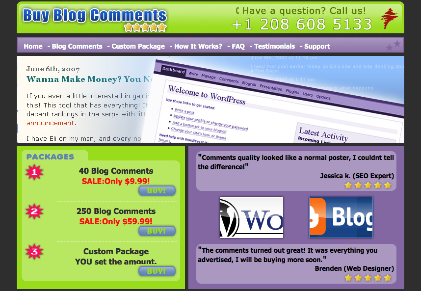 Buy blog comments