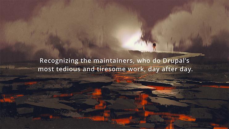 Purpose applaud the maintainers