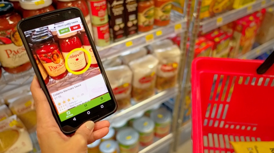 How augmented reality can be used to superimpose product information