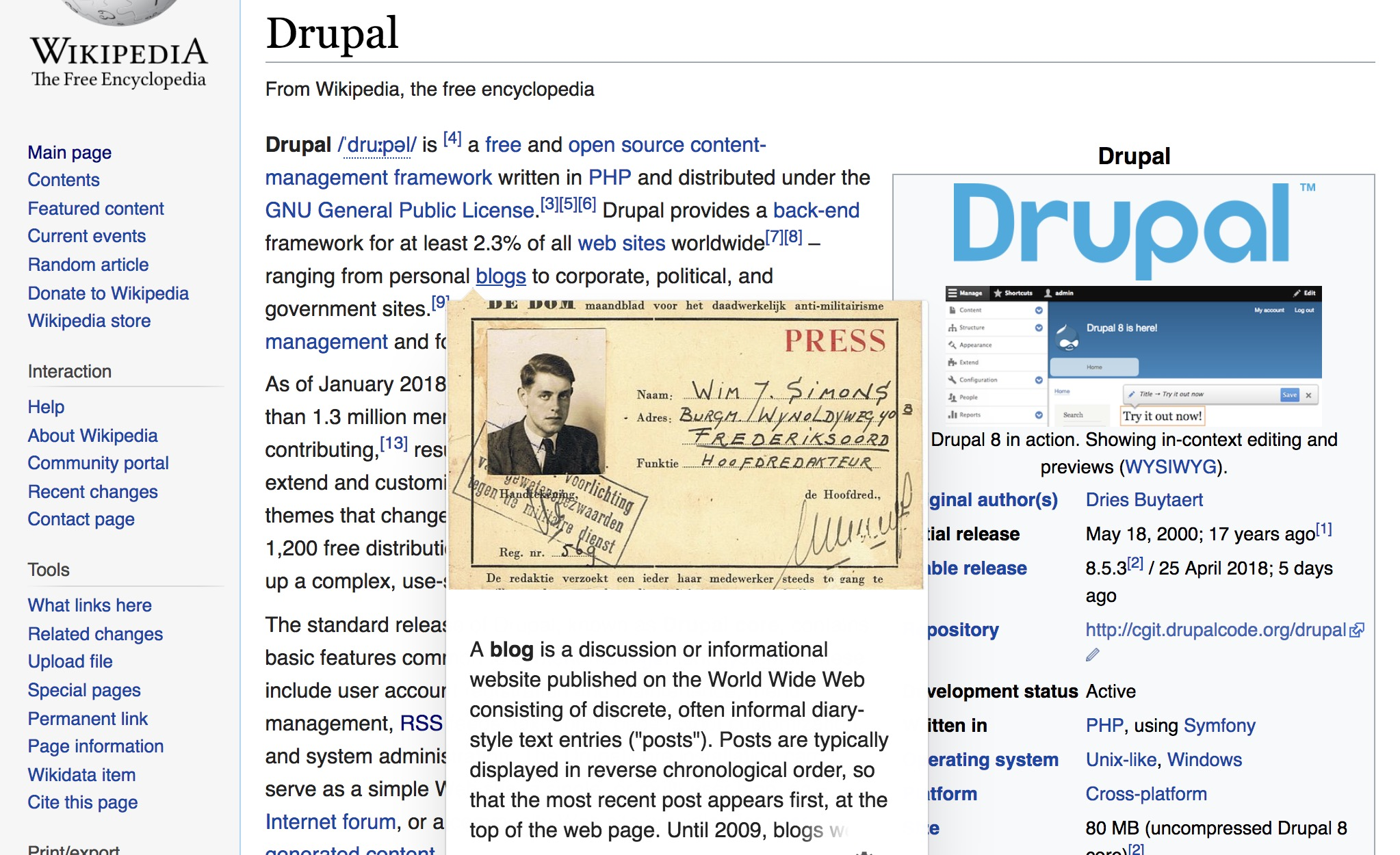 How Wikipedia Implemented Link Previews Dries Buytaert