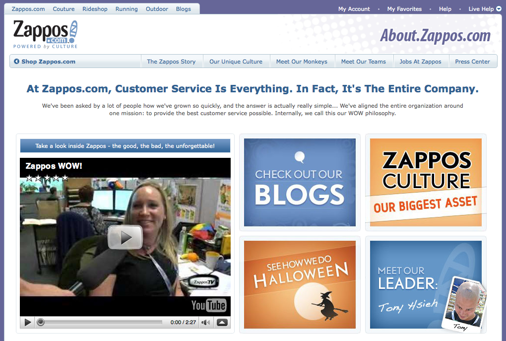 About zappos