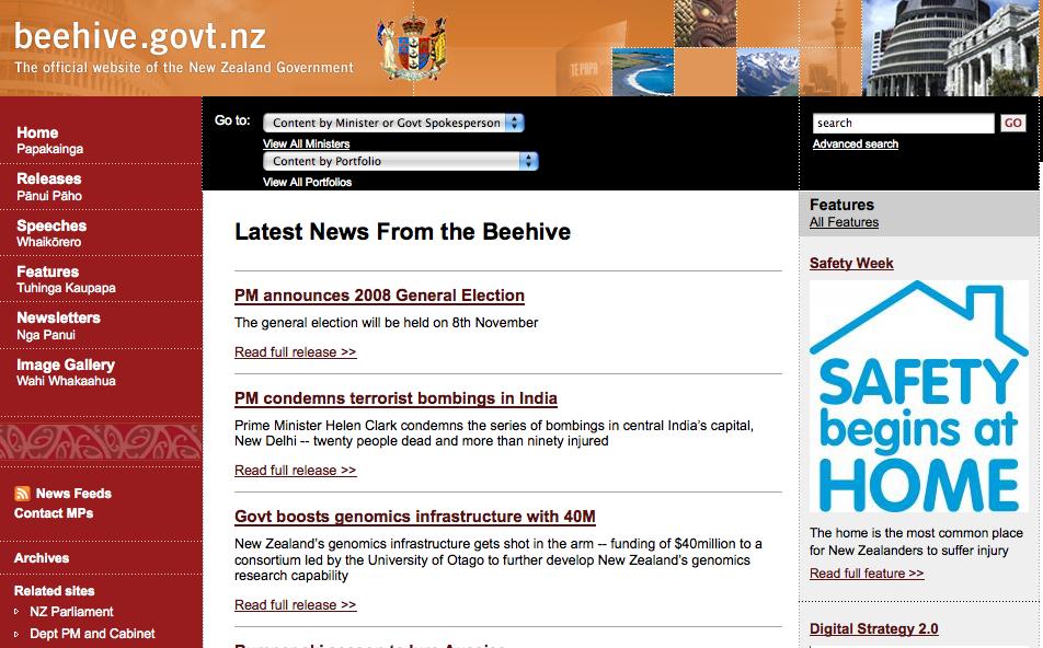 Beehive govt nz