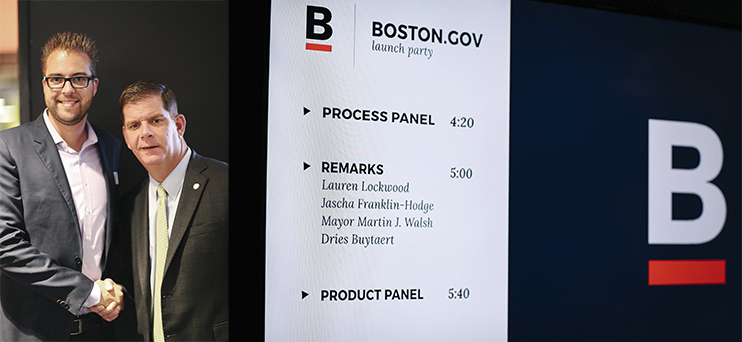 Boston gov launch event