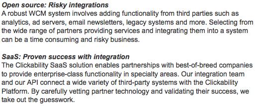 Clickability integration