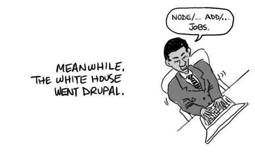 Drupal cartoon