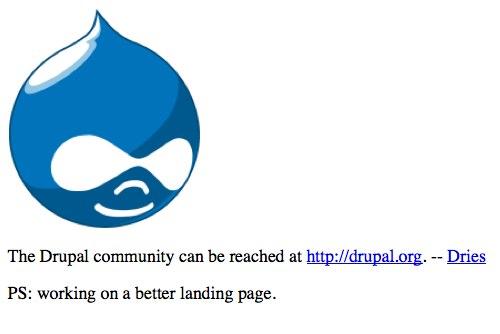 Drupal.com in 2005