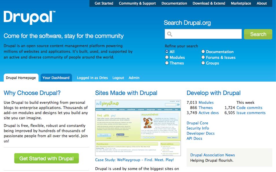 Drupal org redesign