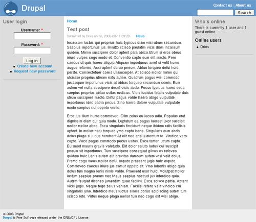 Drupal post