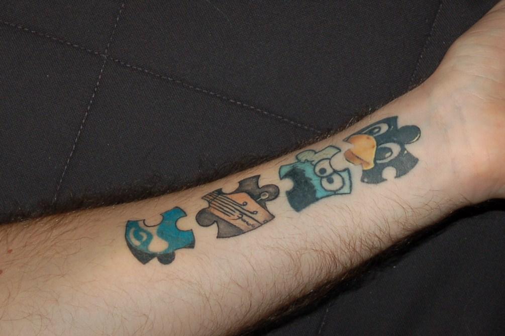 Druplicon puzzle tattoo