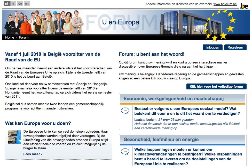 Forum2010 belgium be