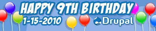 Happy ninth birthday